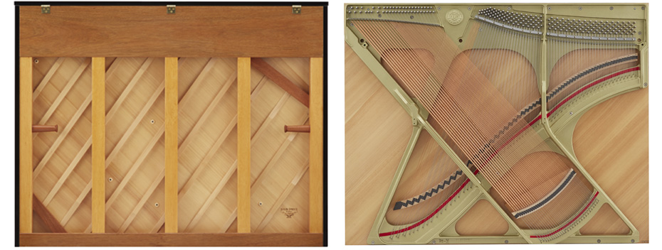 soundboard đàn piano kawai k600