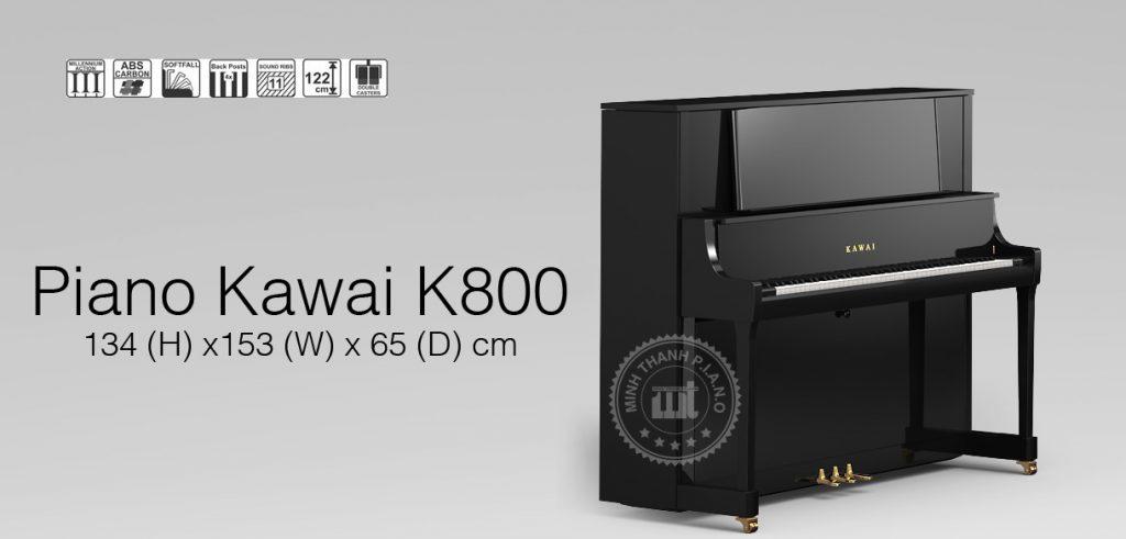 đàn piano kawai k800