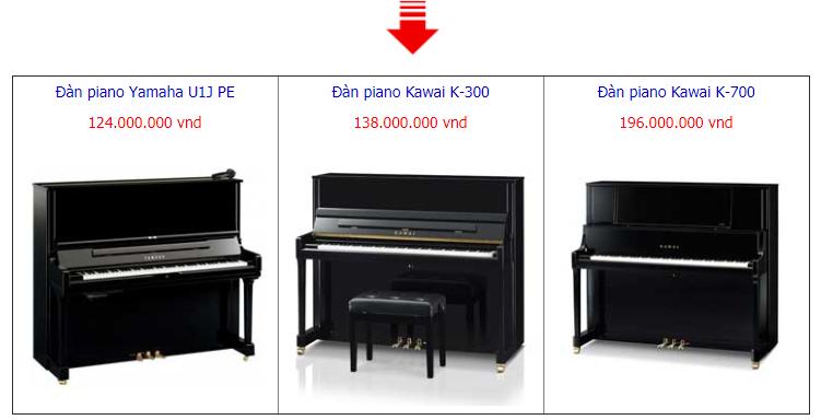 Đàn piano cơ cao cấp 120 – 200 triệu